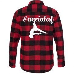#aerialaf plaid long sleeve red black