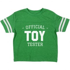 Official Toy Tester Toddler Tee