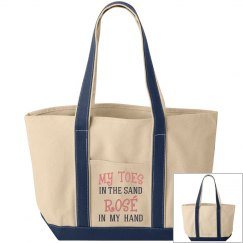 my toes in the sand tote