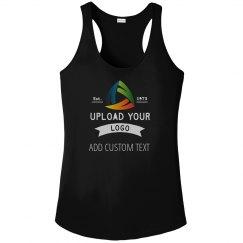 Upload Your Logo Custom Women's Workout Racerback