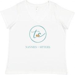 Plus-Size Emblem T-Shirt