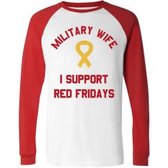 Military Wife I Support Red Fridays