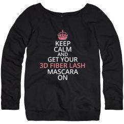 Keep Calm 3D Fiber Lash Sweater