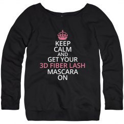 Keep Calm 3D Fiber Lash Sweater