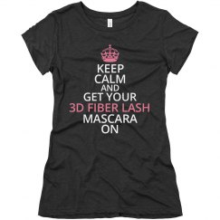 Keep Calm 3D Fiber Lash Tshirt