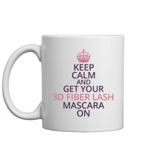 Keep Calm 3D Fiber Lash Mug