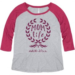 Custom Mom Life Plus Raglan