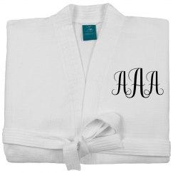 Custom Monogram Spa Robe Gift