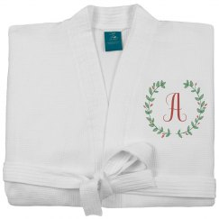 Floral Custom Initial Spa Robe