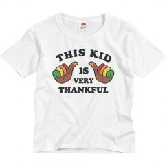 This Kid Is Very Thankful Youth Shirt
