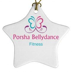 Porsha Bellydance Fitness Ornament