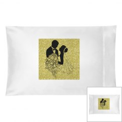 Silhouette Bride & Groom Gold