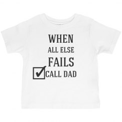 Call Dad Kids Shirt