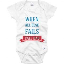Call Dad Onesies