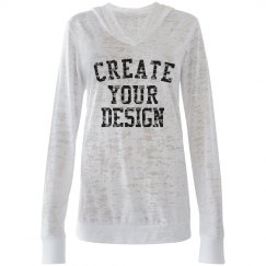 Create your Custom Hooded Burnout Tee