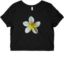 White Flower Crop Top