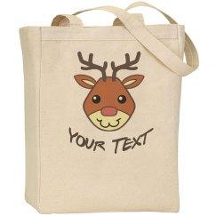Cute Christmas Reindeer Tote Bag