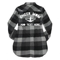 Custom Cheer Mom Flannel