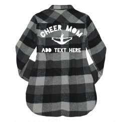 Custom Cheer Mom Flannel