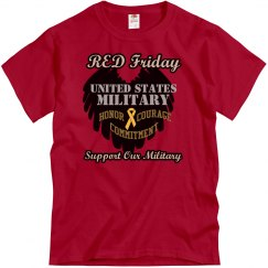 Red Friday Wing Heart Mens