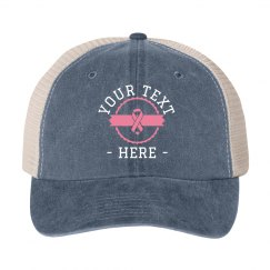 Pink Ribbon Custom Cancer Hat