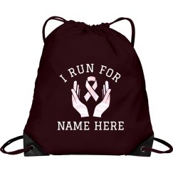 Breast Cancer Running Support Bag