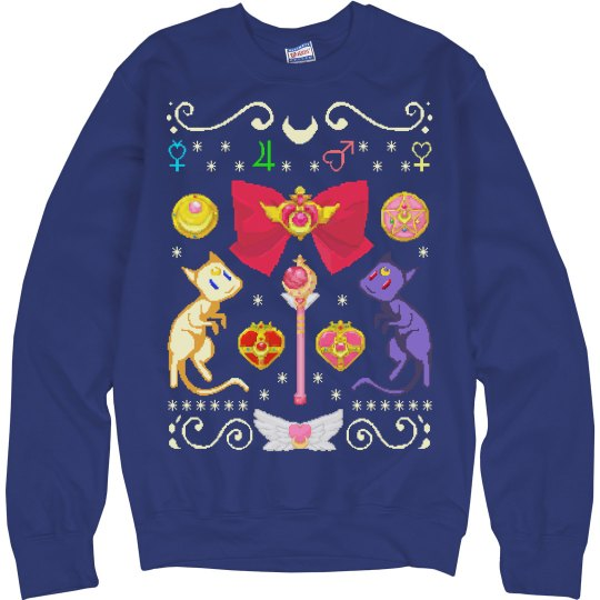 Anime Christmas Sweater.Anime Manga Ugly Sweater