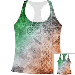 Irish Celtic Cross Grunge Splatter