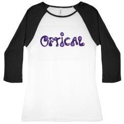 Optical Eyes Baseball Tee
