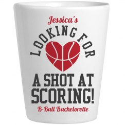 Basketball Bachelorette Party Wordplay Shot Glass