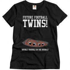 Football Mom to Football Twins Maternity Design Shirt