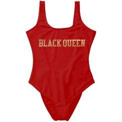 Black queen bathing suit