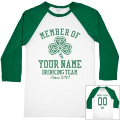 Custom Name Drinking Team