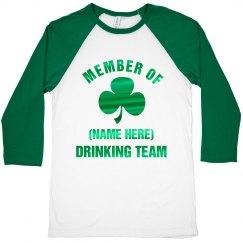 Custom Foil Irish Drinking Team