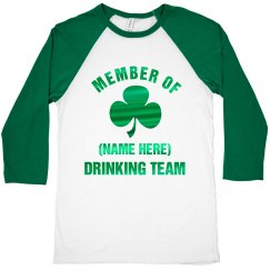 Custom Foil Irish Drinking Team