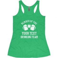 Custom Irish Drinking Team