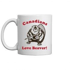 Canadians Love Beaver Mug
