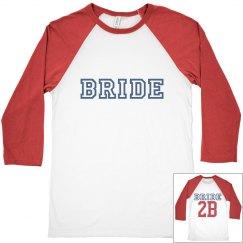 Baseball Couple Matching Bride 2B Shirt