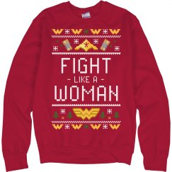 Fight Like A Woman Ugly Sweater