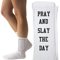 Pray & Slay Ladies Crew Socks