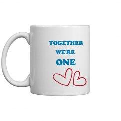 Together We R One Valentine Mug