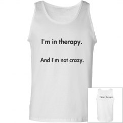 not crazy men's tank(front/back)