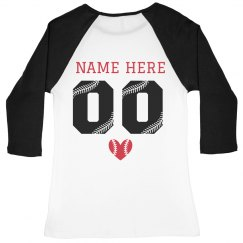 Custom Baseball Girlfriend Raglan