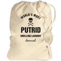 Samuel's laundry bag