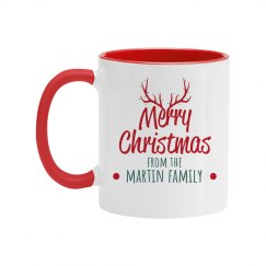 Custom Family Merry Christmas Mug