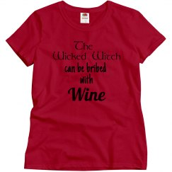 The wicked witch can be bribed with wine