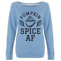 Pumpkin Spice AF Trendy Fall Design