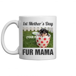 Dog Mom Fur Ma Custom Photo Mug