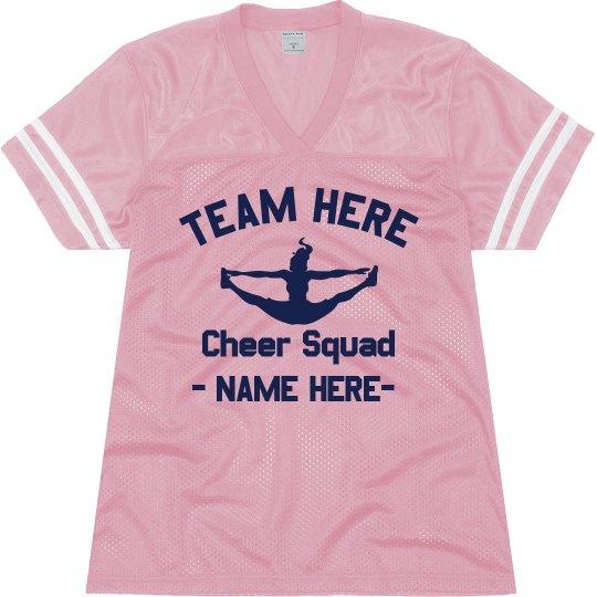 sale retailer 82ae8 09182 Custom Cheer Football Jersey