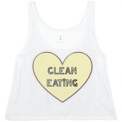 Clean Eating White Tank
